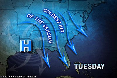 Artic Air Plunges South - Accuweather