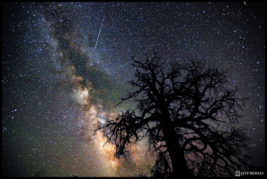 Perseid Meteor over the Utah Desert 2011.